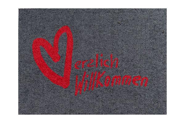Berühmt Fußmatte Clean Keeper Herzlich Willkommen 50 x 70 cm - preiswert IH75